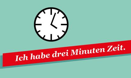 Zeit Einbringen 3 Minuten