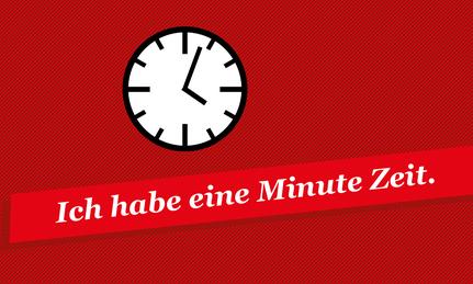 Zeit Einbringen 1 Minute